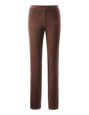 Velour suit with large loose-fitting collar