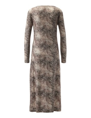 Long-sleeved patterned nightdress