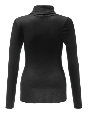 Form-fitting polo neck top