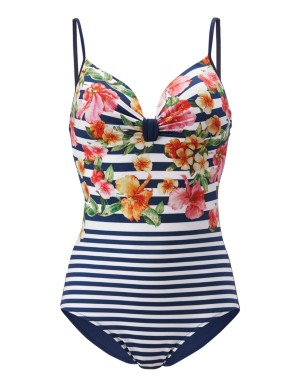 Mixed pattern swimsuit