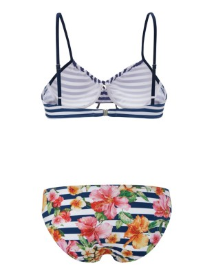 Mixed print bikini