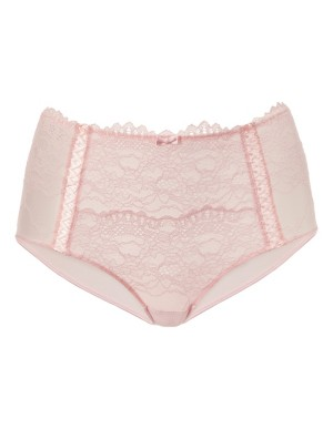 High-waisted briefs with lace