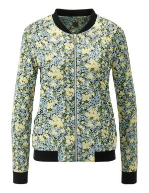 Blouson jacket with contrast trim