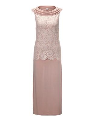 Drape neckline nightdress with lace detail