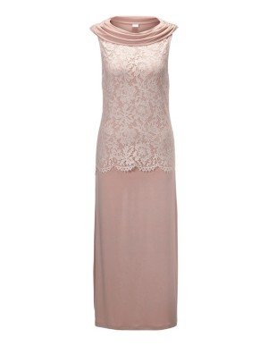 Drape neckline nightdress with lace detail