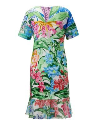Beach dress with sleeve flounces, FÉRAUD