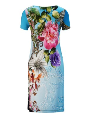 Floral beach dress, FÜRSTENBERG