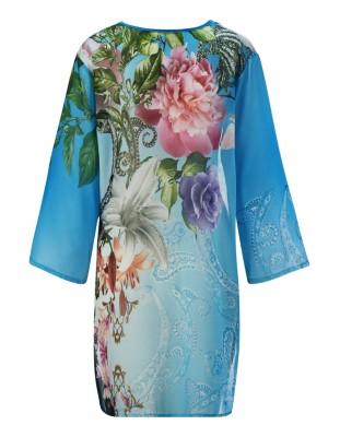 Semi-transparent floral tunic, FÜRSTENBERG