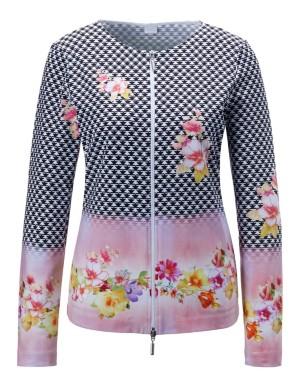 Mixed pattern jacket