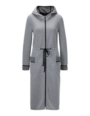 Dressing gown with zip