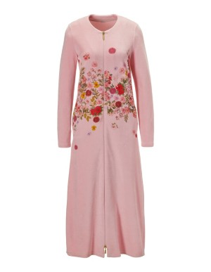 Dressing gown with floral print