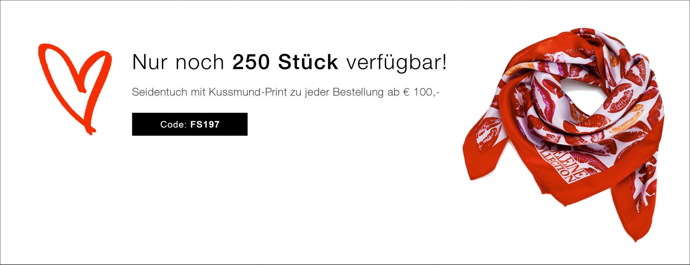 Gratis Seidentuch ab einem Bestellwert von EUR 100