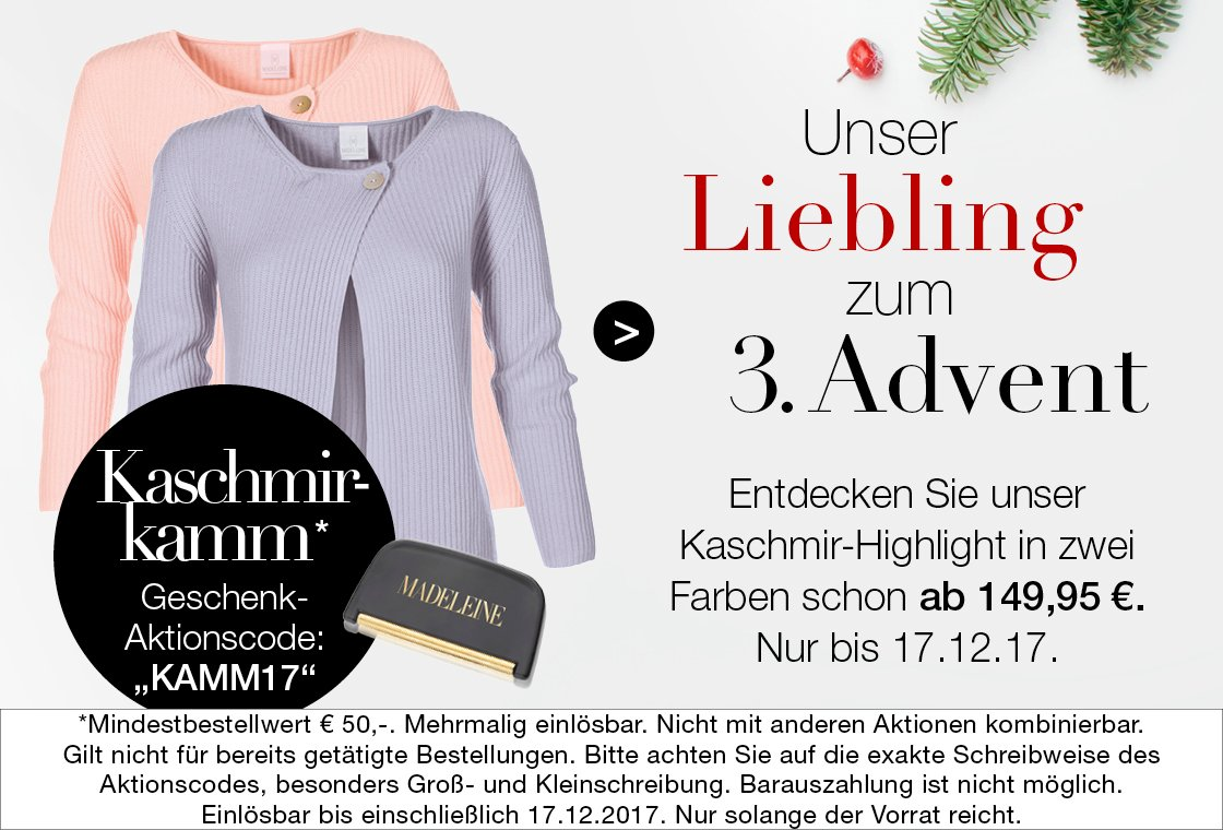Edle Kaschmir-Lieblinge im Advent