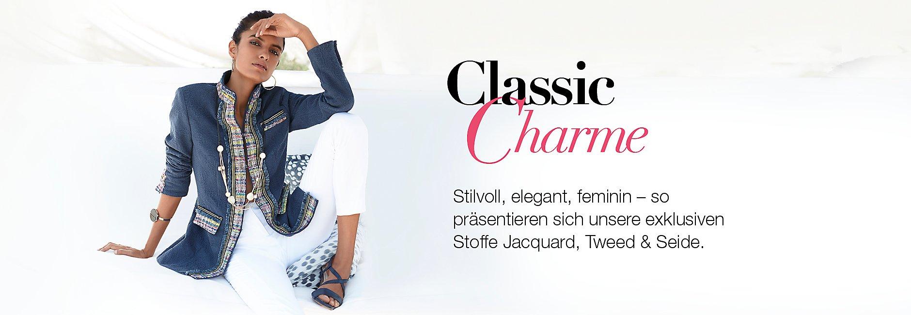 Exklusive Qualitäten mit den Stoffen Jacquard, Tweed und Seide