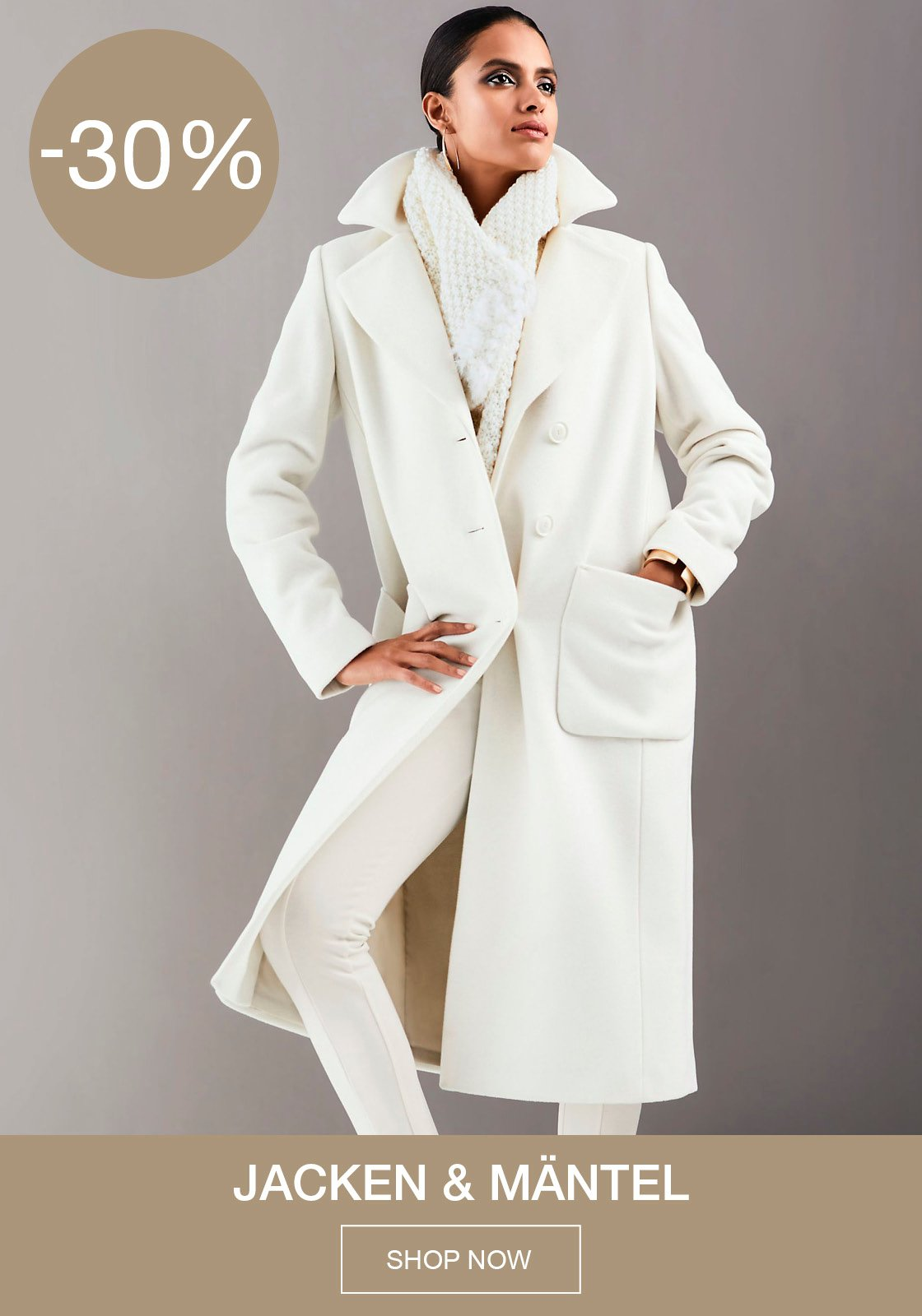 30% auf Jacken und Mäntel